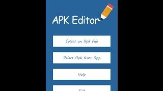 Tutorial mengedit aplikasi menggunakan APK EDITOR PRO (No Root)