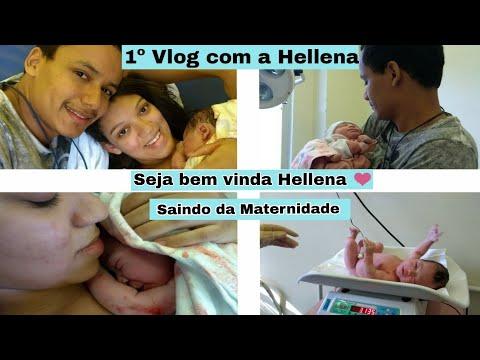 Vlog   Nasceu a Hellena - Primeiro dia em Casa - Mãe aos 16