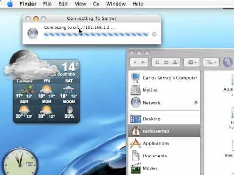 Ligação a servidor remoto em Mac OSX