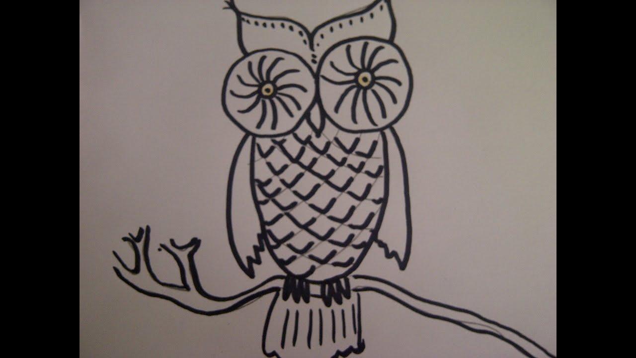 Como Dibujar FÁcil MÉtodo Para Principiantes Y Como: Como Dibujar Un Buho. Como Hacer Un Dibujo Para