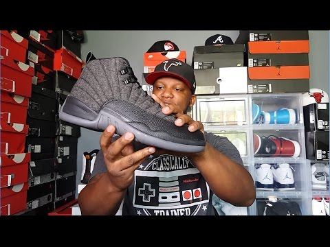 aa4d49ef26eb JORDAN 12  WOOL  REVIEW AND ON FEET!!! - YouTube