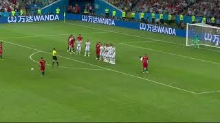 Ronaldo free kick vs spain world cup 2018 amazing goal