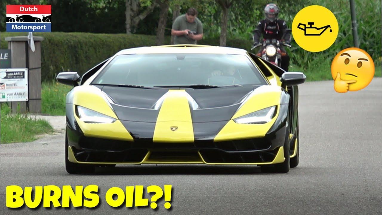 1 Day Old Lamborghini Centenario Already Burns Oil Youtube