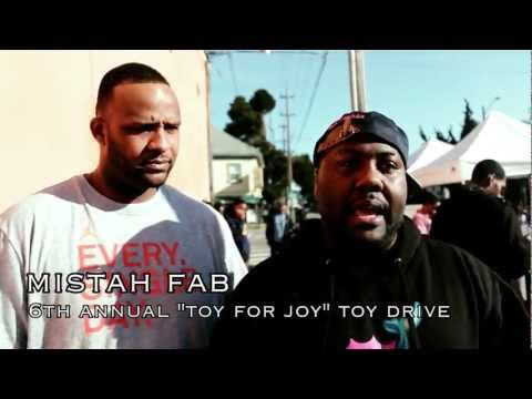 "Mistah Fab Christmas ""Toys For Joy"" Toy Drive In North Oakland"