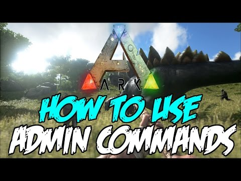 How To Use Ark Survival Admin Commands! - (PS4/Xbox One)