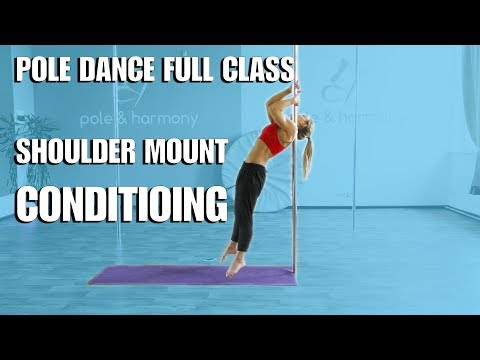 POLE DANCE TRAINING (Shoulder Mount Conditioning & Dynamic Combination tutorial)