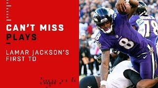 Lamar Jackson's First Career NFL TD!