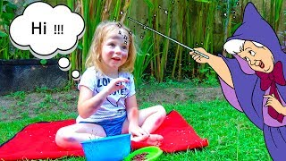 Funny Baby in real life play in Sinderella Nursery Rhumes Songs for kids, babies and toddlers