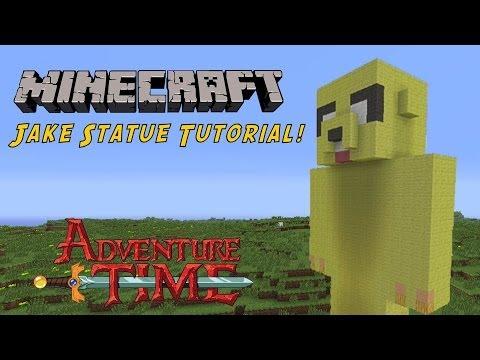 Minecraft Tutorial: Jake (Adventure Time) Statue