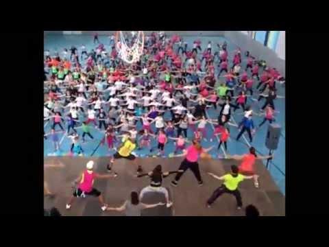 Master Class de Zumba en Tembleque. Cámara fija. 19-4-2015