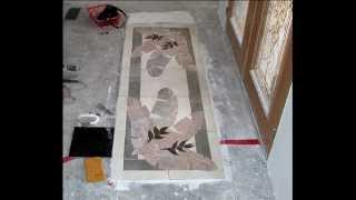 3D hand carved Tile Murals by Makena Tile Murals