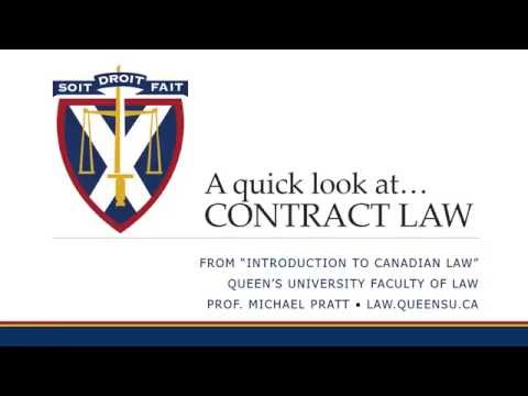 Law 201 - A Quick Look at Contract Law