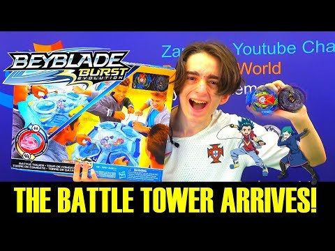 THE BATTLE TOWER ARRIVES! QR CODES REVIEW + BATTLES  BEYBLADE BURST EVOLUTION