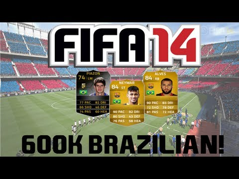 FIFA 14 Ultimate Team | 600k Brazilian Squad Builder ft. Neymar and IF Piazon!