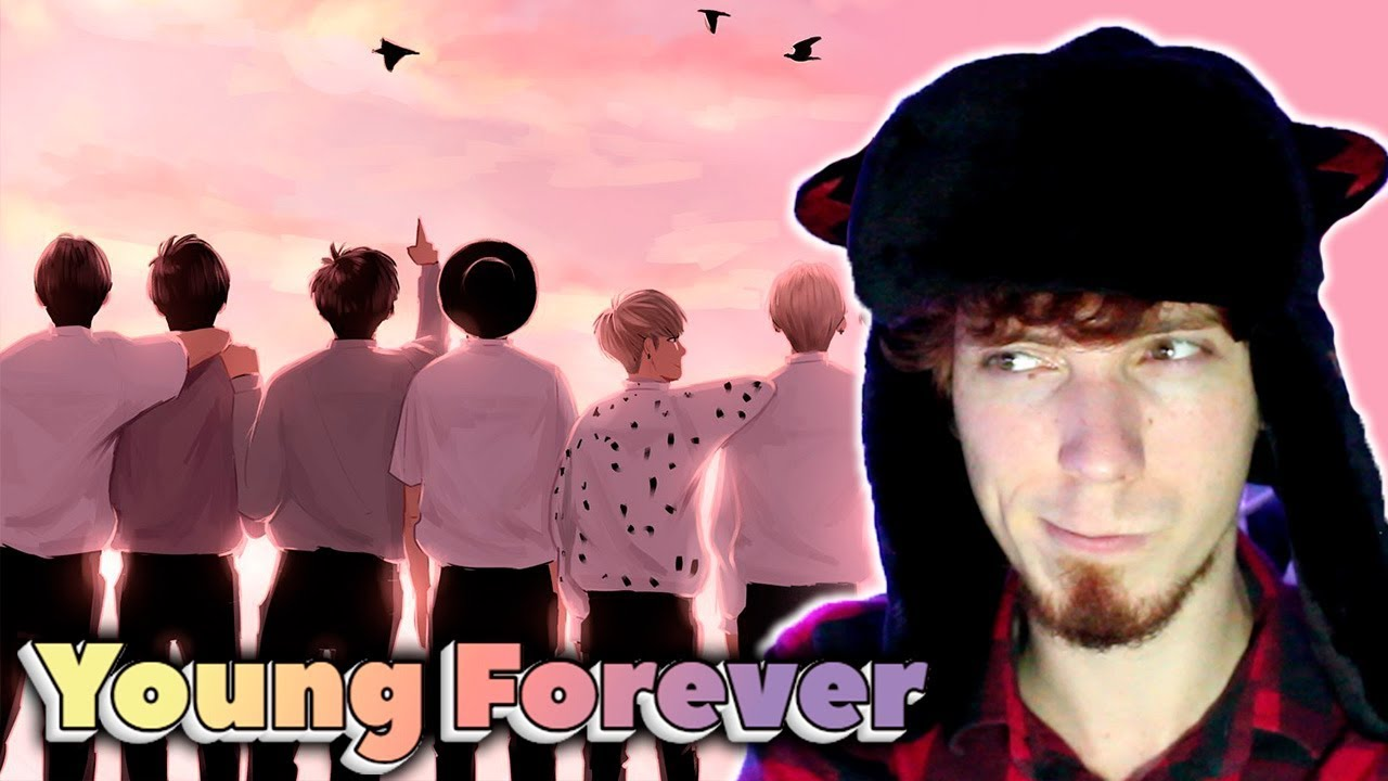 Шапка для ютуба bts young forever