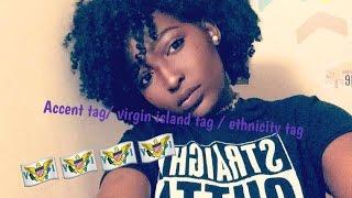 Accent tag/ Virgin Island tag / Caribbean tag