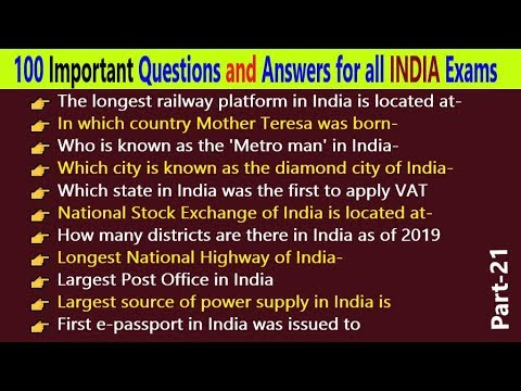 100-all-india-gk-general-knowledge-questions-and-answers-for-upcoming-exams-in-english-  -part--21