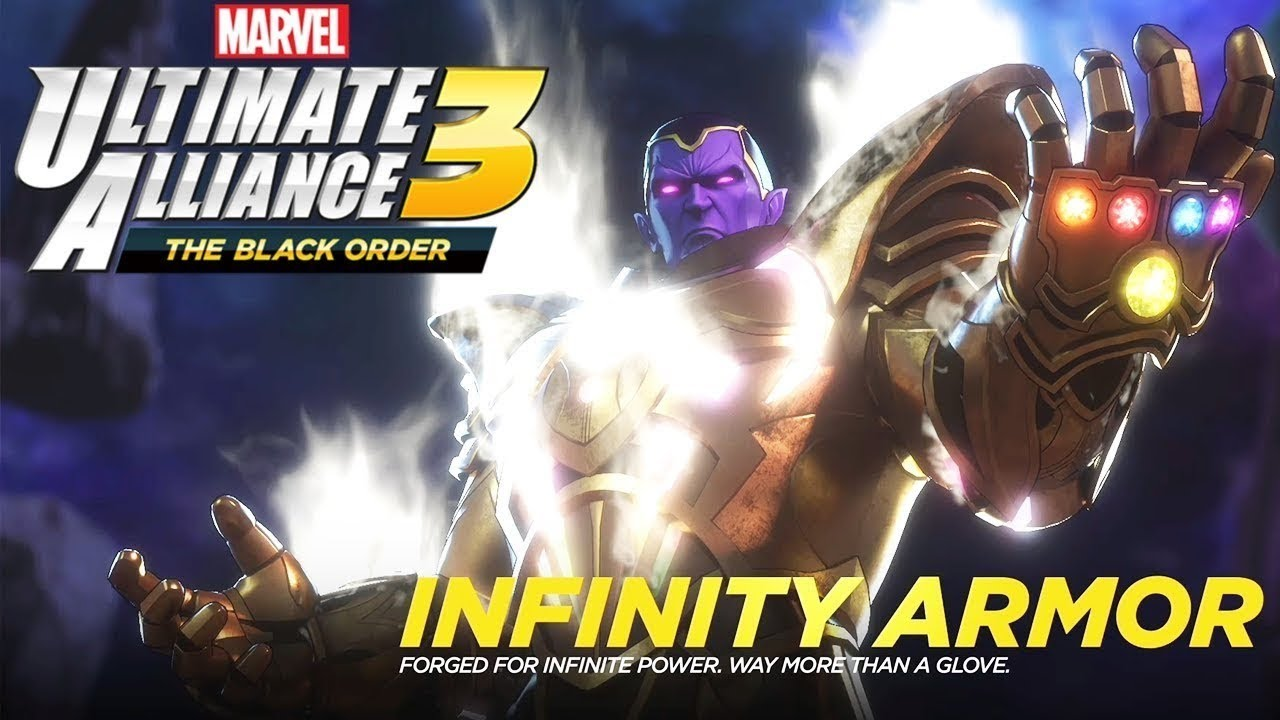 Marvel's Ultimate Alliance 3 The Black Order - The Infinity Armor 1st  Appearance