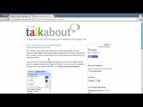 Google Translate in Google Talk