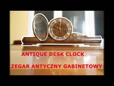 ANTIQUE DESK CLOCK. WESTMINSTER CHIME EVERY