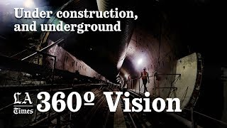 No hardhat or miner's light required: a 360 video tour of a los angeles subway under construction