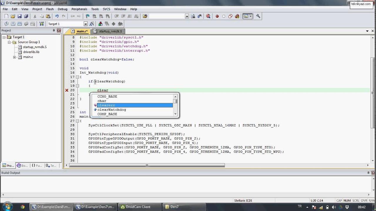 Tiva C Series Launchpad ile Uygulama Geliştirme - 8 || Watchdog Timer