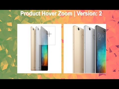 Product Hover Zoom Using Jquery + Css, Magnify Photo, Jquery Image Effects,  Image Zoom, Hover Zoom