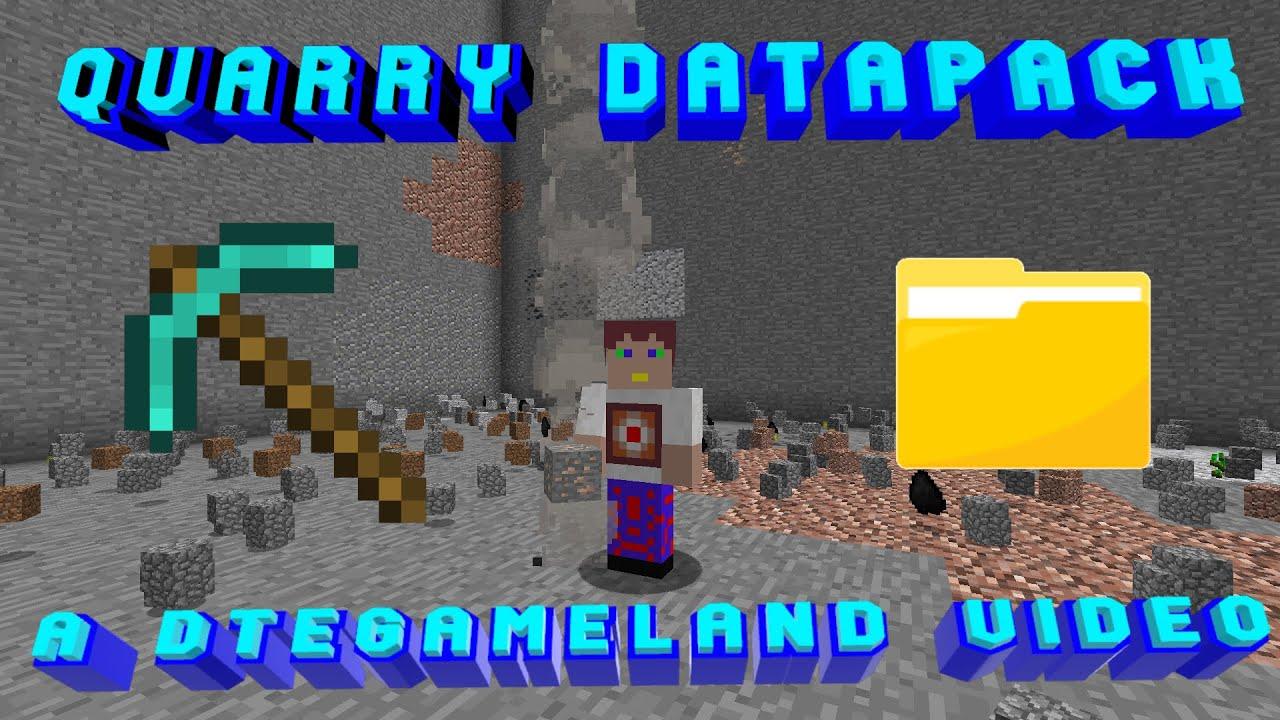 Quarry Datapack (add Quarries to your vanilla Minecraft World