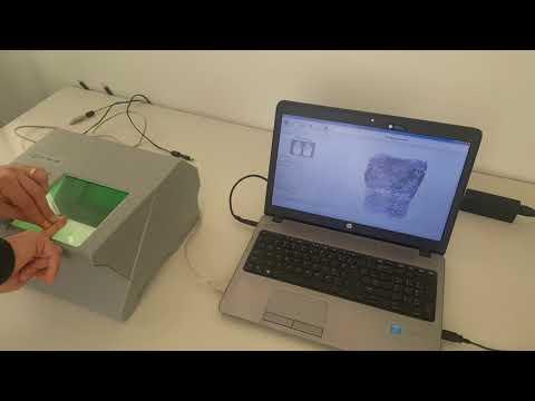 Rolled fingerprints on MultiScan527