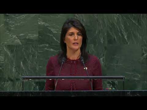 Ambassador Haley Before a UN General Assembly Vote on Jerusalem
