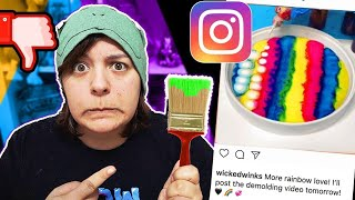 Regrets! I TRIED FOLLOWING 3 INSTAGRAM PAINTING HACKS