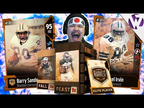 FEAST AND FALL PACK OPENING FOR THANKSGIVING BARRY SANDERS - Madden 18 Thanksgiving Pack Opening