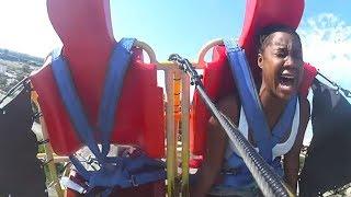 her kid fell off roller coaster.. :(