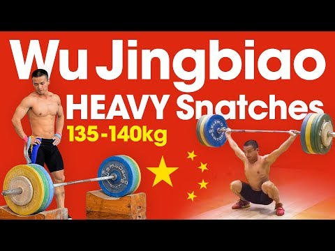 Wu Jingbiao HEAVY Snatches up to 140kg (1kg over World Record)