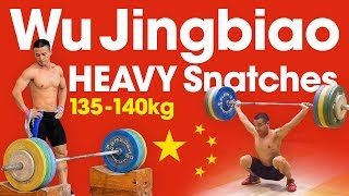 Wu Jingbiao (56kg, China) HEAVY Snatch Compilation up to 140kg (1kg over World Record)