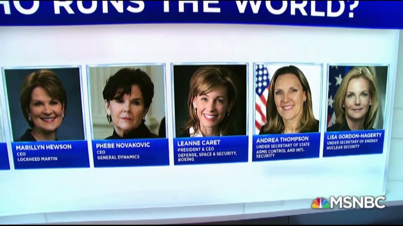 MSNBC Brags That Women Run The CIA & Wár Machine