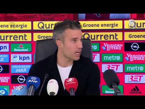 De gehele persconferentie met Robin van Persie bij Feyenoord