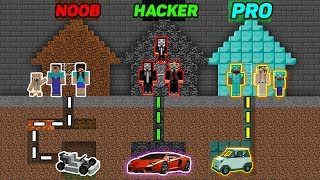 Minecraft - NOOB vs PRO vs HACKER - FAMILY MAZE GO TO CAR Challenge! Animation!