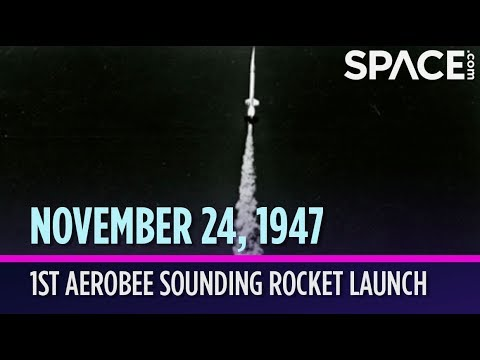 otd in space nov 24 1st aerobee sounding rocket launch youtube