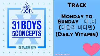 Gambar cover Monday to Sunday – 데.비 (데일리 비타민) (Daily Vitamin)