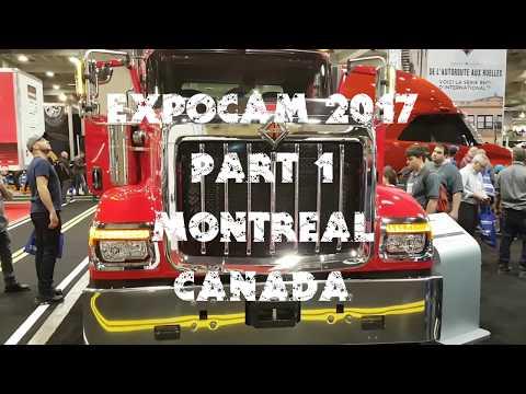 Expocam 2017 (part 1 - full video). Montreal Trucks show. Canada.