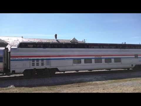 AMTRAK Special pulls into Pascagoula, MS