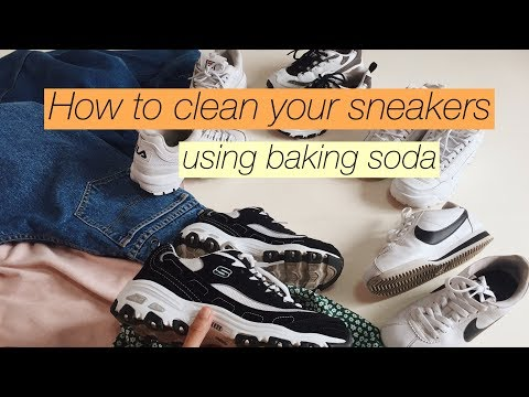 HOW TO CLEAN YOUR SNEAKERS   USING BAKING SODA  