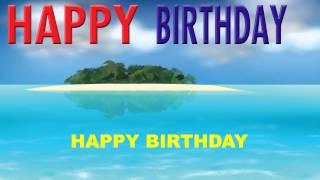Happy Birthday   Card Tarjeta - Happy Birthday