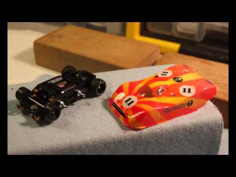 HO Slot Car Lexan Body Post Installation And Trimming Lexan Bodies