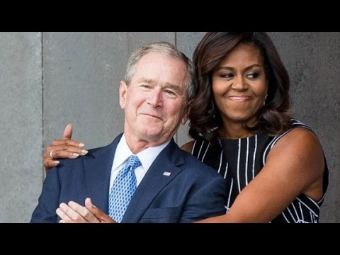 George W. Bush and Michelle Obama: An unlikely friendship Mp3