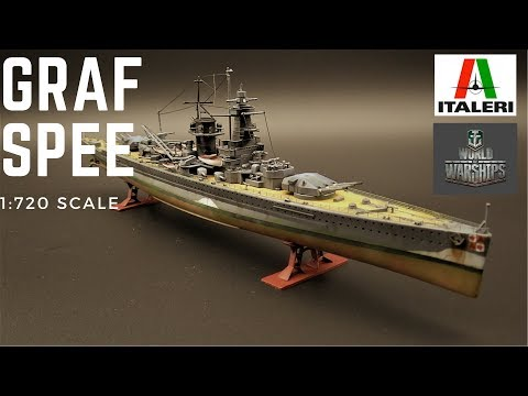 Italeri World of Warships Admiral Graf Spee 1:720 scale