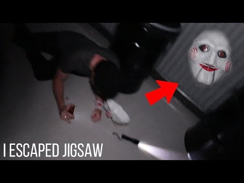 I ESCAPED JIGSAW'S GAME! (I MADE A RUN FOR IT!)