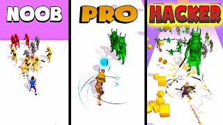 NOOB vs PRO vs HACKER – Crowd Master 3D (iOS)