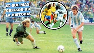 El día que Maradona y Cannigia nos dejaron sin voz | Argentina vs Brasil 1990
